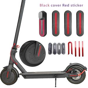 Image 1 - 4pcs Light Weight U   Shaped Stickers For Xiaomi M365 Scooter Front Rear Wheel Protective Cover With Linear U   Shaped Stickers
