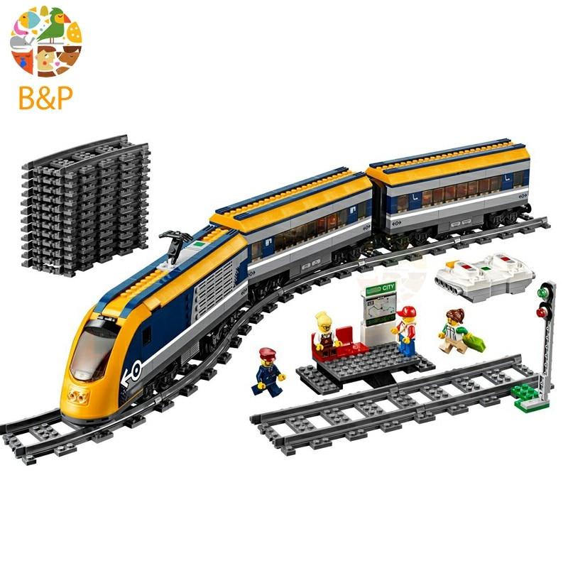 City 758pcs 02117 60197 Passenger Train Model Building Block Brick Toy For Children Gift compatible Legoing lepin 02117 758pcs city figures passenger train sets model building blocks bricks toy for children gift compatible legoing 60197