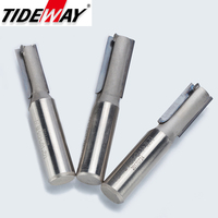 Tideway 1/2 Shank Diamond Cleaning Bottom End Mill Woodworking Cutter Slotter Machine CNC Engraving Tool PCD Router Bit