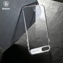 Baseus марка тонкий и прозрачный сейф мини сопротивление pc back case for iphone 7, для iphone 7 plus, 3 Цвет, с Розничной Упаковке