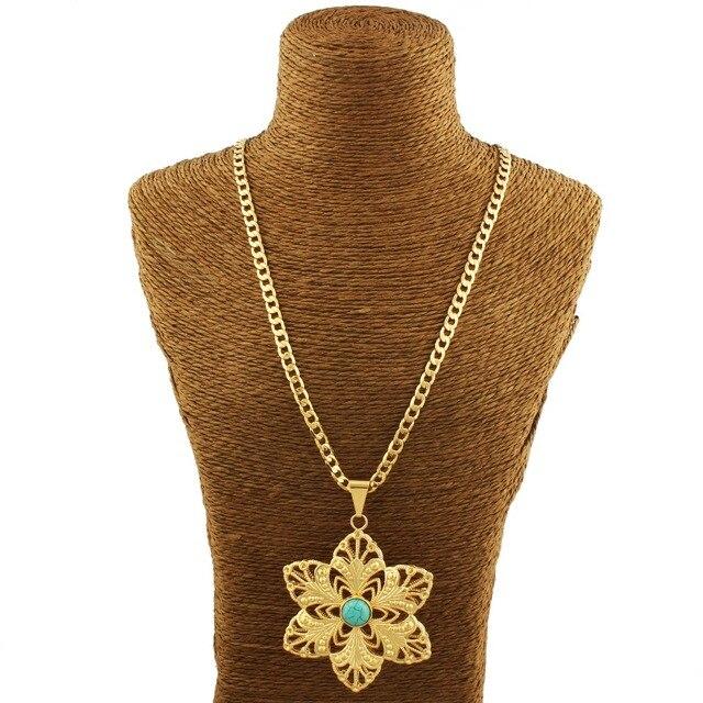 Newest turkey blue stone pendants gold color pendant necklaces newest turkey blue stone pendants gold color pendant necklaces jewelry slide pendants arabic women girls aloadofball Choice Image
