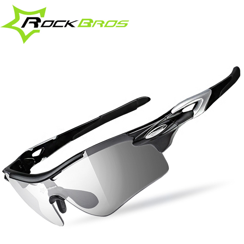 RockBros Polarized font b Skiing b font Glasses Outdoor Sports Bicycle Photochromatic Glasses Bike Sunglasses Goggles