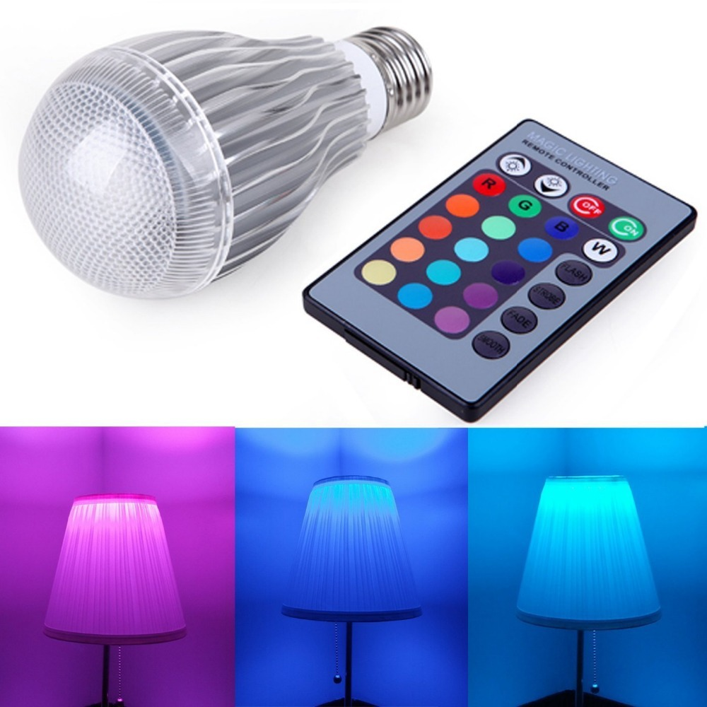 E27 10w Rgb Led Light Color Changing Lamp Remote