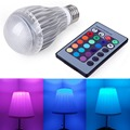 E27 10W  RGB LED Light  Color Changing Lamp    Remote Controller  shop, Bars, KTV