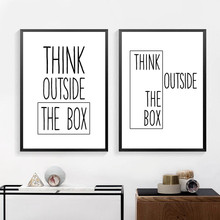 Motivational Print Creative Decor Think Outside The Box Home Office Simple Wall Art Canvas Painting Ideas For Classroom HD2449