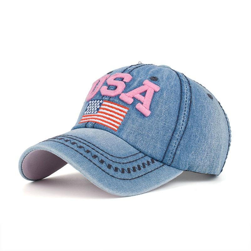 7a4261876a0 Feitong denim baseball cap women casual bones snapback jeans hats for women  casquette feminino flag embroidery gorras-in Baseball Caps from Apparel ...