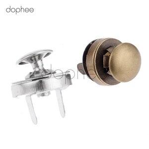 Image 5 - Dophee 10 sztuk 14/18mm magnetyczne Snap nity Stud zamknięcie zapięcie przyciski zapięcia 2 kolory dla DIY damski portfel torby ubrania