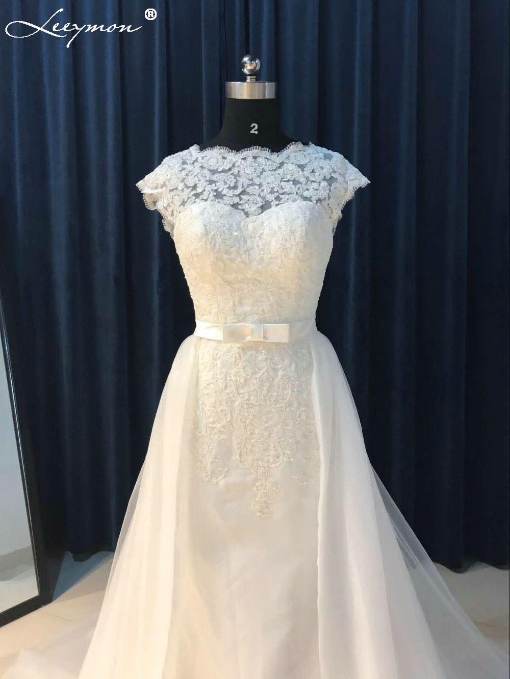 2018 Vintage White Mermaid Wedding Dress Lace Backless Bridal Gown ...
