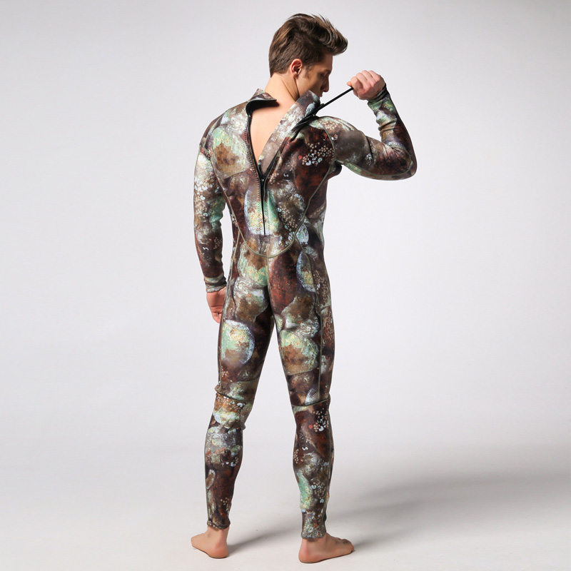 Camouflage Spearfishing Wetsuit 3MM Neoprene SCR Superelastic Diving Suit Waterproof Keep Warm Professional Surfing Wetsuits 3mm unisex s 2xl wetsuit sbr cr watersport keep warm sunscreen diving wetsuit suit anti slip lightweight comfortable