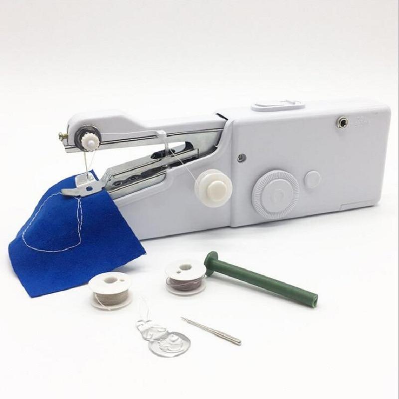Mini Portatile Tenuto In Mano macchine da cucire Stitch Cucire ricamo Cordless Abbigliamento Tessuti Macchina Da Cucire Stitch Set Elettrico
