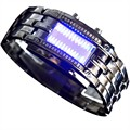 Steel strip cool fashion waterproof led popular male metal watches electronic watch trend