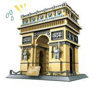2017 New Famous Architecture Series The French Arc De Triomphe 3D Model Building Blocks Classic Toys