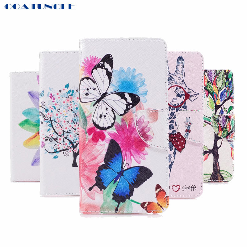 COATUNCLE Case For Coque Sony XA1 Case For Fundas Sony Xperia XA 1 G3116 Cover Owl Butterfly Flip PU Leather Phone Cases