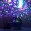 Romantic Rotating Spin Night Light 2017 Projector Children Kids Baby Sleep Lighting Sky Star Moon Master