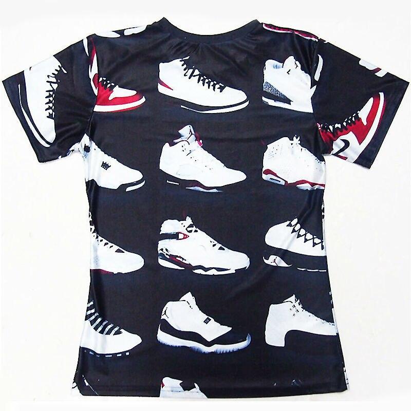 Cool! JORDAN 23 Classic Shoes 3D Printed T-shirts Hip Hop Funny Mens T Shirt Summer Pure American Special Cut Tees Tshirt Homme