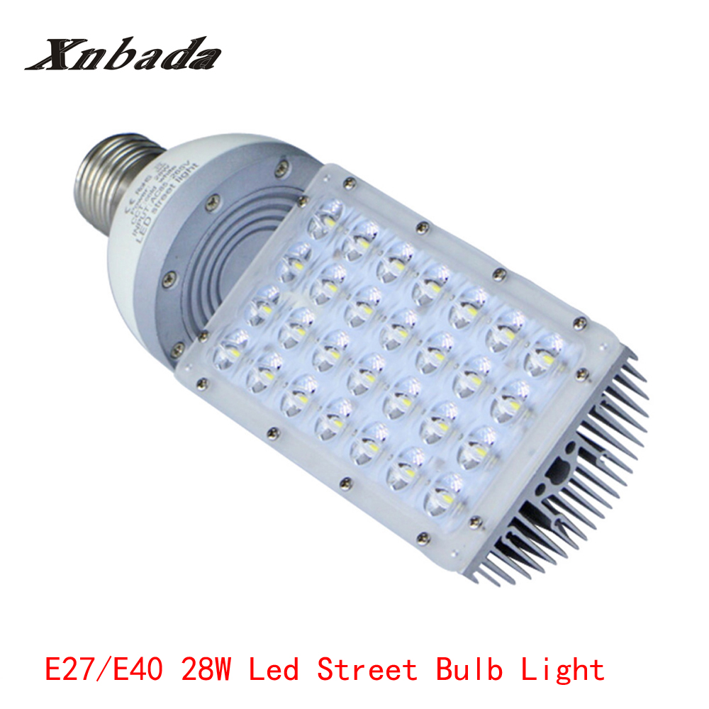28W E40 E27 LED Street Light High Power Outdoor Street Lamp Energy Saving Led Bulb 180 Degrees Light AC100-305V Free Shipping high power e40 28w led street light outdoor street lamp energy saving lamp 180 degrees light ac85 265v