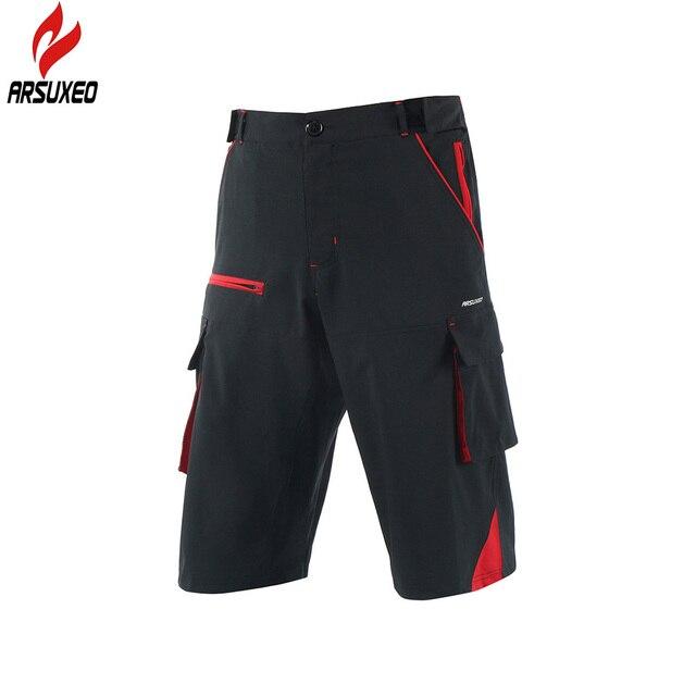 ARSUXEO 2018 New Men s Cycling Shorts Outdoor Sports Mens Bicycle Downhill  MTB Shorts Mountain Bike Shorts 142486519