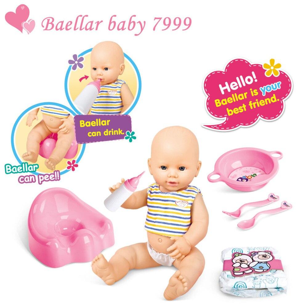 Reborn bébé poupée avec bouteille de lait bol cuillère fourchette closestool maison semblant jouer en plastique jouet de bain nouveau-né bébé poupée pour fille