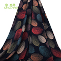 Chainho,Colorful Leaves/Summer Apparel Fabric/ Discharge Printed,Imitation Silk/Skirt/Dress/Shirt Material For Baby&Child Pcc061