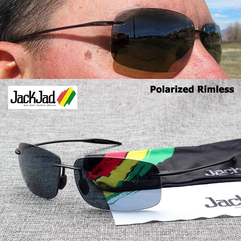 JackJad deportes TR90 marco sin montura BreakWall estilo gafas De ...
