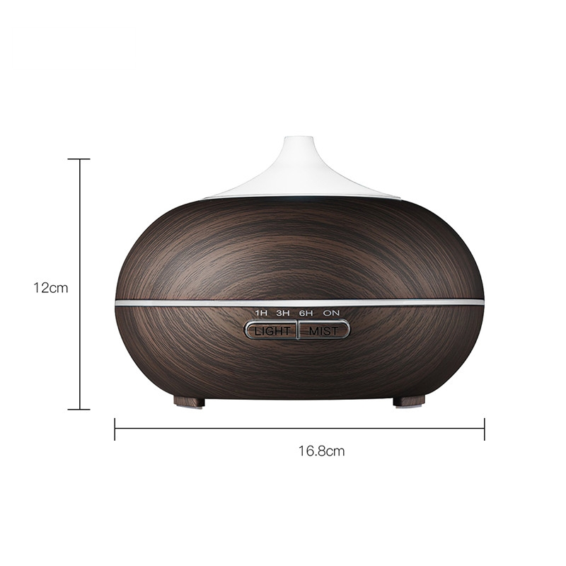 500ml Aroma Essential Oil Diffuser Ultrasonic Air Humidifier with Wood Grain 7Color Changing LED Light electric aroma mist maker