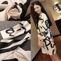 2017 nova primavera longo-sleeved maternidade vestidos alfabeto maternidade dress casual roupas para grávidas roupas femininas gravidez
