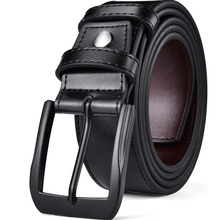 Men Genuine Leather Dress Belt With Single Prong Buckle Fashion Classice Pin