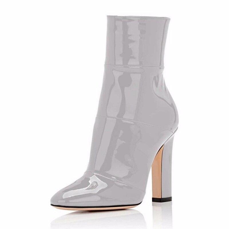 De Alta Casual Tamaño Enmayer Apricot gray 45 34 Mujer Invierno Zapatos Tobillo Moda Cr480 Grueso Gran black La 2018 Pu white red Botas Mujeres 7qYrz7Z