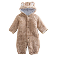 Autumn Winter Warm Baby Romper Plush Animal Style Baby Jumpsuits Long Sleeve Newborn Baby Boys Girls Clothing Overall 2017 New