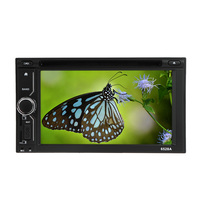 US CLEARANCE 6 2 Universal 2 Din HD Car Stereo DVD USB SD Player Beautiful UI