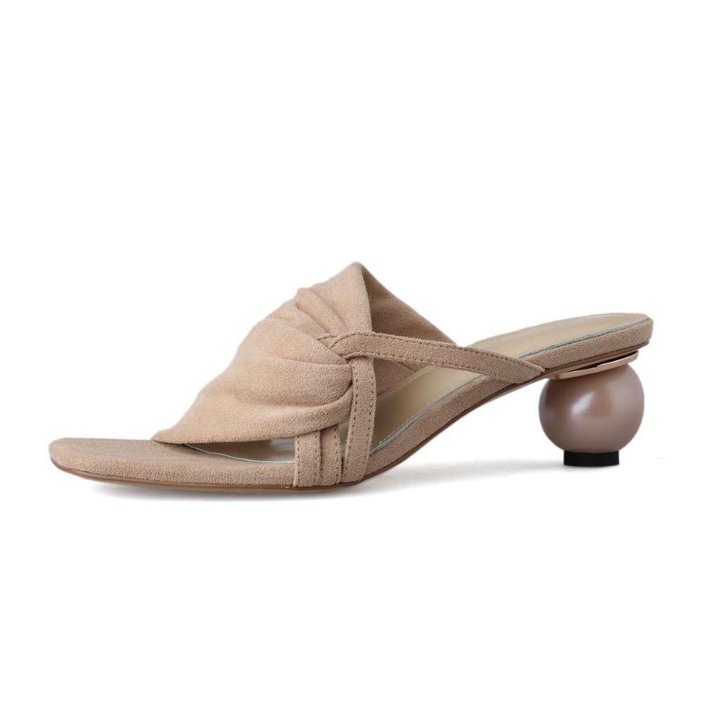 Sandalias de mujer con tacón bajo diseño artístico estilo extraño vintage maceta de grano completo l07-in Sandalias de mujer from zapatos    2