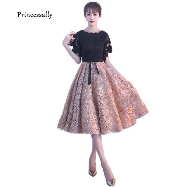 Robe De Soriee New Short Prom Dresses A line Contrast Color Formal ...