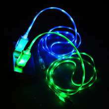 USB Cable Micro USB Cable High Glow LED Glow Charging Data Sync Mobile Phone Cables For Android Samsung Huawei Xiaomi HTC LG led glow charging usb cable type c cable flowing data sync mobile phone cables for iphone 6 android samsung huawei xiaomi htc lg