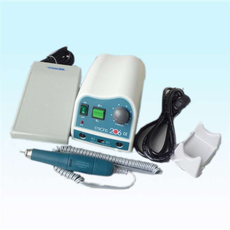 1 Piece Original South Korea Dental Laboratory High Speed 45000 RPM Micromotor Strong206+103L Polishing with Handpiece
