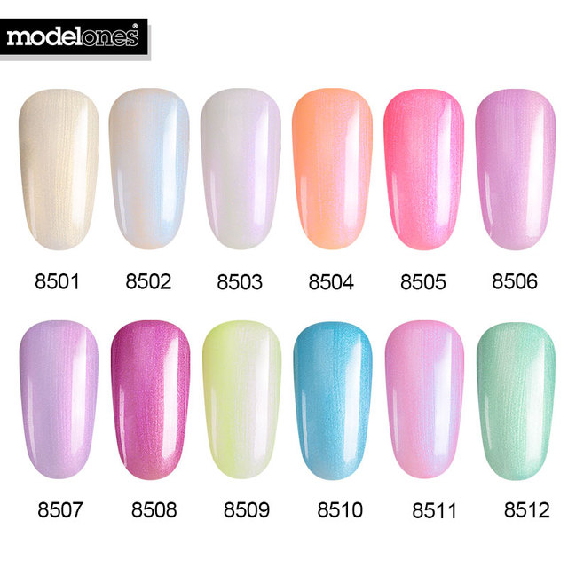 Modelones 7ML Newest Pearl Color Gel Polish Nail Art Salon UV Nail ...