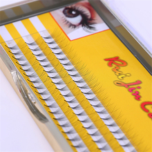 60pcs/ 8/9/10/mm Hand made black False Eyelash Individual Lashes Winged Human Hair Makeup tools Mink eyelashes RJC405