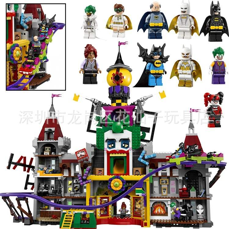 3857 pièces 07090 Super véritable héros série 70922 le manoir du Joker modèles blocs de construction compatibles avec les briques de Legoings