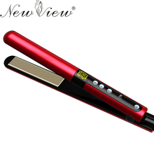 NewView Grade Ceramic Hair Straightening Flat Iron Intelligent LCD Professional Hair Curler Curling Straightener Irons
