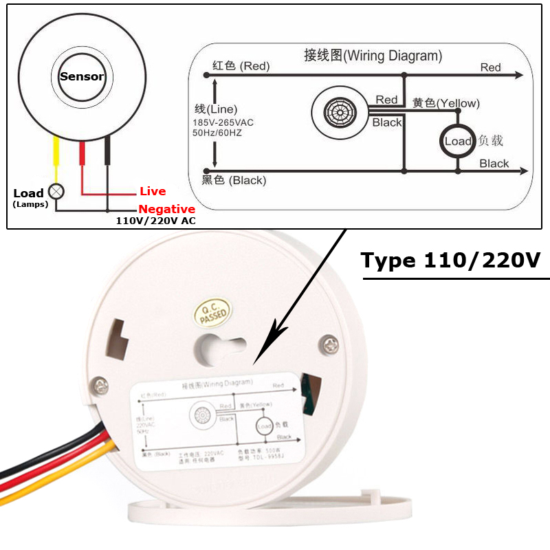 US $8.65 23% OFF|PIR Motion Sensor 220V 12V Light Sensor Switch Movement on