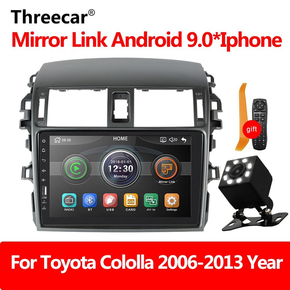 Автомагнитола Зеркало Ссылка Авторадио 2 din для Toyota Corolla E140/150 2008 2009 2010 2011 2012 2013 авто стерео камера заднего вида
