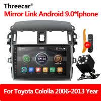 Autoradio lecteur miroir Link autoradio 2 din pour Toyota Corolla E140/150 2008 2009 2010 2011 2012 2013 Auto stéréo caméra arrière