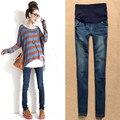 Novo Autum Maternidade Calças Jeans Plus Size Calças Jeans Cintura Elástica Para As Mulheres Grávidas Roupa Gravidez Mulheres Grávidas Legging
