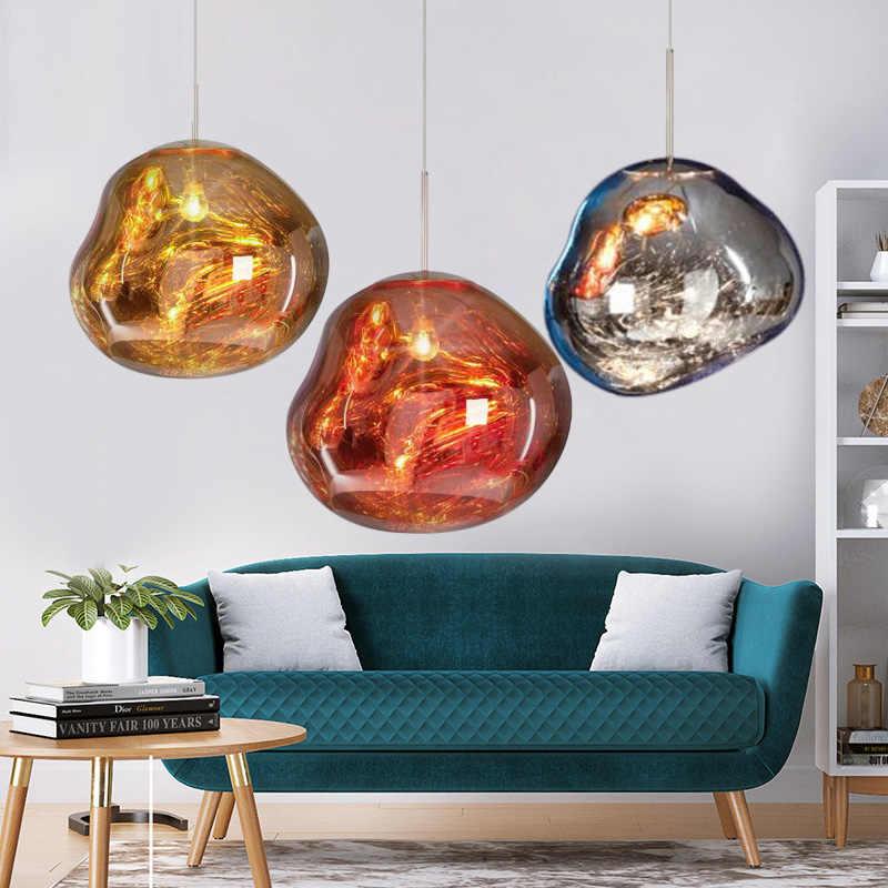 Горячая продажа искусство Лава подвесные огни мяч неправильной формы стекло Подвесная лампа для подвесной светильник для ресторана бар кофейня магазин