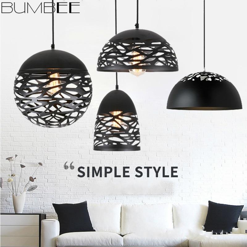 Nordic Modern Semi-circular Chandelier Lights Spherical Cafe Living Room Iron Hang Lamp Bedroom Loft Decor Home Fixture Lighting