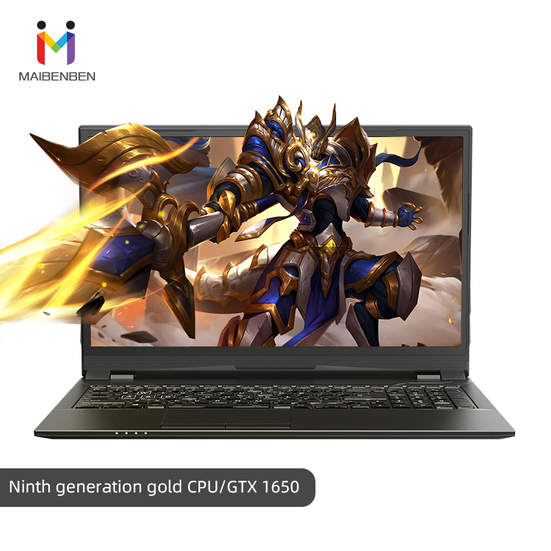"Super Gaming Laptop MaiBenBen HeiMai 7-D/16.1"" G5420/16G RAM/PCI-E 256G+1TB HDD/NVIDIA GTX1650 4G Graphic/Black Notebook Gaming"