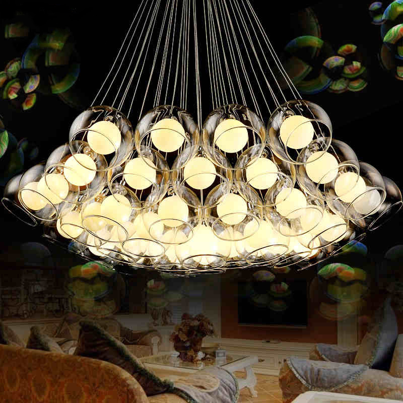 Modern Led glass pendant lights for dining living room bar AC85-265V G4 Bulb hanging glass pendant lamp fixtures free shipping creative design modern led colorful glass pendant lights lamps for dining room living room bar led g4 85 265v bubble glass light