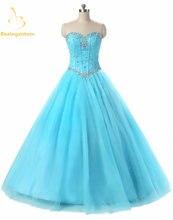 Женское Тюлевое платье с бисером bejoy синее бальное кристаллами