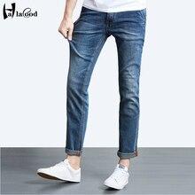 Новая коллекция весна мода sexy бренд мужской джинсы высокого стретч большой размер мужская жира, чтобы увеличить молодые ноги жир Тонкий брюки прилив