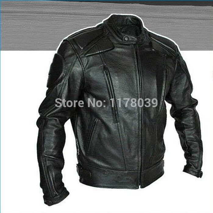 2015 Date hommes PU moto veste racing costumes protection veste Artificielle en cuir jacekt haute qualité