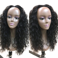 Half Wig Loose Wave Human Half Wigs Human Hair Natural Black Color 150% Density Brazilian Wave Lace Wigs